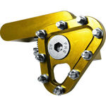 _Apico Gefertigte Klappraste für Fußbrems Gelb | AP-BPFTIPY | Greenland MX_
