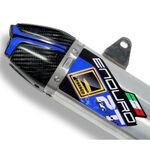 _Fresco Schalldämpfer Aufkleber Kit Blau | FADS-BL | Greenland MX_