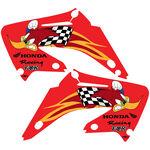 _TJ Kühlerflügel Aufkleber Kit Honda CR 125/250 R 02-07 Woody Team USA | KCR25007W | Greenland MX_