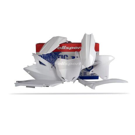 _Polisport Plastik Kit Suzuki RMZ 450 08-15 Weiß | 90145 | Greenland MX_