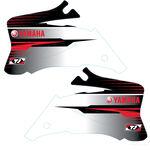 _TJ Kühlerflügel Aufkleber Kit Yamaha YZ 250/450 F 06-09 Weiß | KYZF0609WT | Greenland MX_