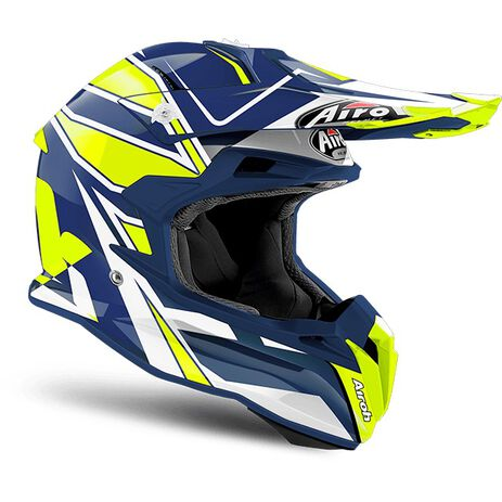 _Airoh Terminator Open Vision Shock Blue Gloss Helm 2018 | TOVSH18 | Greenland MX_