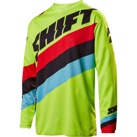 _Shift Weiß Label Tarmac Youth Jersey Gelb Fluo | 17219-130 | Greenland MX_