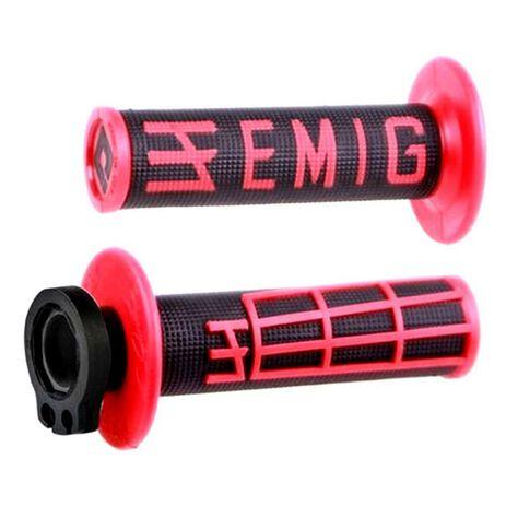 _ODI Emig V2 Lock-On Griffe 2/4 T Rot/Weiße | H36EMBR-P | Greenland MX_