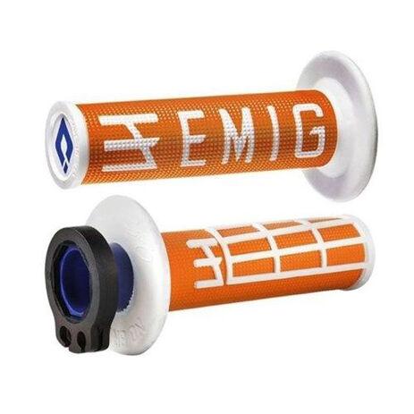 _ODI Emig V2 Lock-On Griffe 2/4 T Orange/Weiße | H36EMOW | Greenland MX_