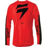 _Shift 3Lack Label Race Jersey Rot/Schwarz | 24119-055 | Greenland MX_