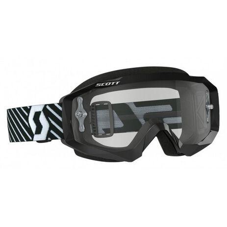 _Scott Hustle MX Clear Works Brille Schwarz/Weiß | 2625921007113-P | Greenland MX_