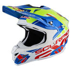 _Scorpion VX-15 Evo Air Argo Helm Blau/Gelb Fluo | 35-246-202-P | Greenland MX_