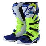 _Troy Lee Designs Alpinestar TECH 7 Stiefel Gelb Fluo/Blau/ Weiß | 9391985300 | Greenland MX_