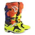 _Alpinestars Tech 10 Stiefel Orange/Gelb Fluo/Blau | 2010014-475 | Greenland MX_