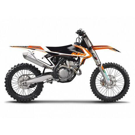 _Blackbird Dream 4 Kompleter Aufkleber Kit KTM SX/SXF 16-18  EXC 17-19 | 8541N | Greenland MX_
