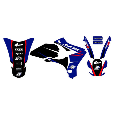 _Blackbird Dream 4 Aufkleber Kit Yamaha YZ 250/450 F 03-05 | 2230N | Greenland MX_