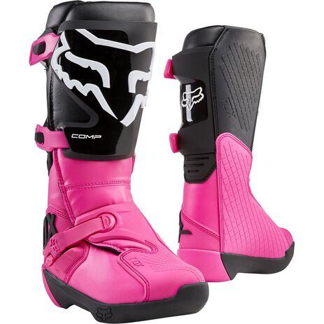 _Fox Comp Damen Stiefel Schwarz/Pink | 24013-285 | Greenland MX_