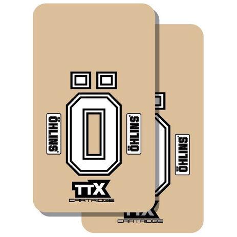 _TJ Vinyl Gabelschutz Aufkleber ÖHLINS TTX | TJFOH | Greenland MX_