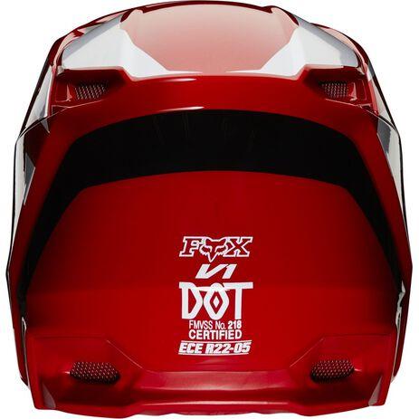 _Fox V1 Prix Helm Flame Rot | 25471-122 | Greenland MX_