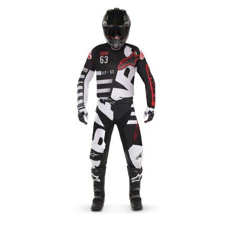 _Alpinestars Racer Braap 2018 Kinder Jersey Schwarz/Weiß | 3771418-123-P | Greenland MX_