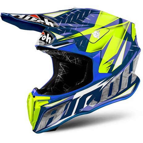 _Airoh Twist Iron Bleu Gloss Helm 2018 | TWIR18 | Greenland MX_