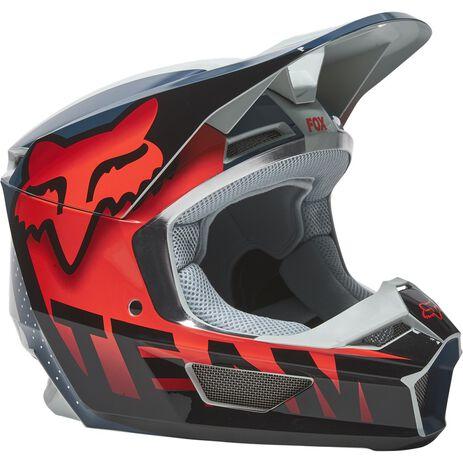 _Helm Fox V1 Trice Grau/Orange   26779-230   Greenland MX_