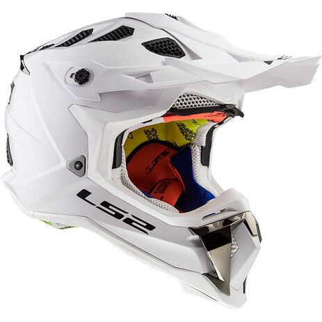 _LS2 MX470 Subverter Solid Helm Weiß   404701002P   Greenland MX_