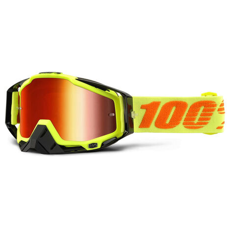 _100% Racecraft Brille Attack Gelb Fluo Mirror | 50110-026-02 | Greenland MX_