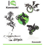 _Kawasaki Kinder Tattoo Set | 226SPM0017 | Greenland MX_