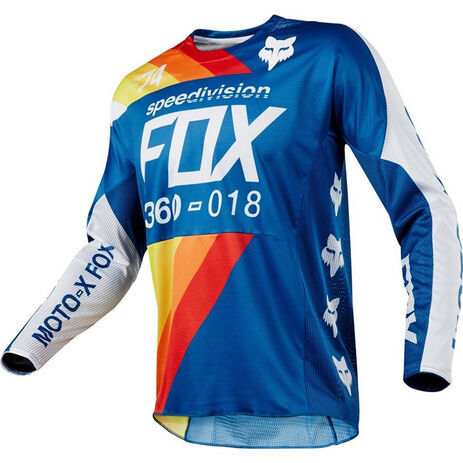 _Fox 360 Draftr Jersey Blau | 19418-002-P | Greenland MX_