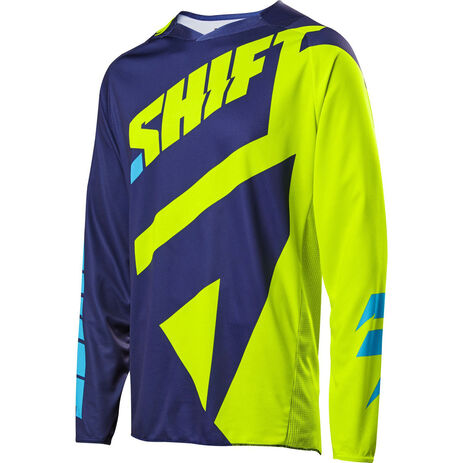_Shift Schwarz Label Mainline Jersey Gelb Fluo | 18764-130 | Greenland MX_
