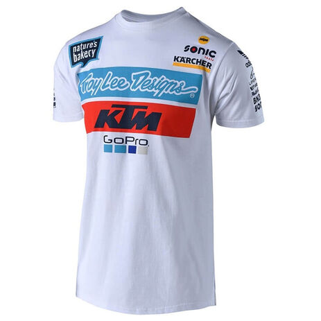 _T-Shirt Troy Lee Designs KTM Team Weiß | 701644170 | Greenland MX_