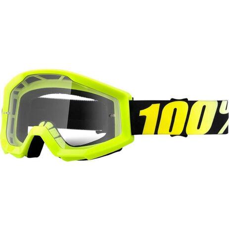 _100% Strata Brille Neon Gelb Fluo | 50400-004-02 | Greenland MX_