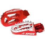 _Enduro Enduro Apico Pro-bite Fussrasten Fussrasten Honda CR 125/250 R 02-07 CRF 250 R/X 04-16 450 R/X 02-16 Rot | AP-FPROCR-CRFRD | Greenland MX_