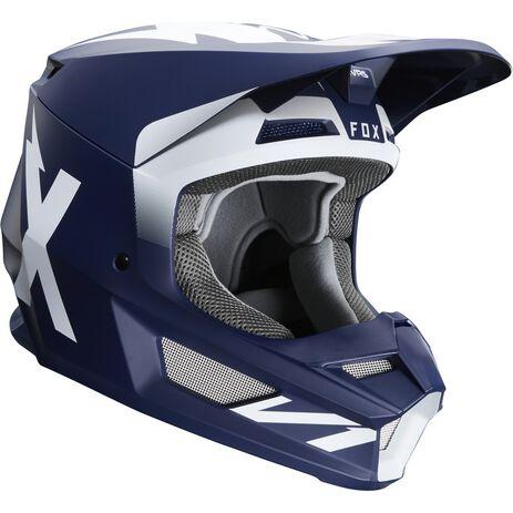 _Fox V1 Werd Helm Marineblau | 25473-007 | Greenland MX_