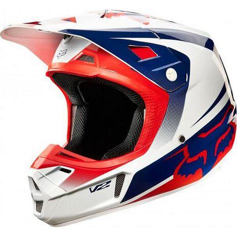 _Fox V2 Imperial Helm Weiß /Blue/Rot 2015 | 13111-025-P | Greenland MX_