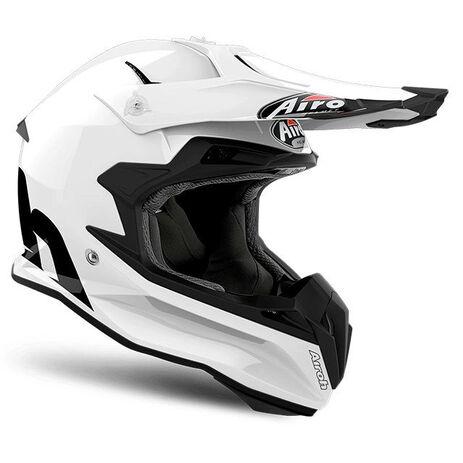 _Airoh Terminator Open Vision Color White Gloss Helm 2018 | TOV14 | Greenland MX_