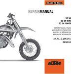 _KTM DVD 50 SX Mini 09-19 Reparaturanleitung   3206341   Greenland MX_