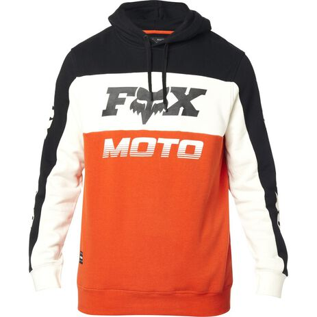_Fox Charger Sweaatshirt Schwarz/Orange | 24093-016 | Greenland MX_