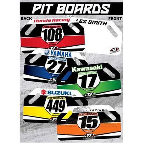 _Pit Board-Holzschildern TJ KTM Racing | TJBANKTM | Greenland MX_