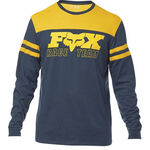 _Fox Race Team LS Airline T-shirt Navy Blau | 22052-007-P | Greenland MX_