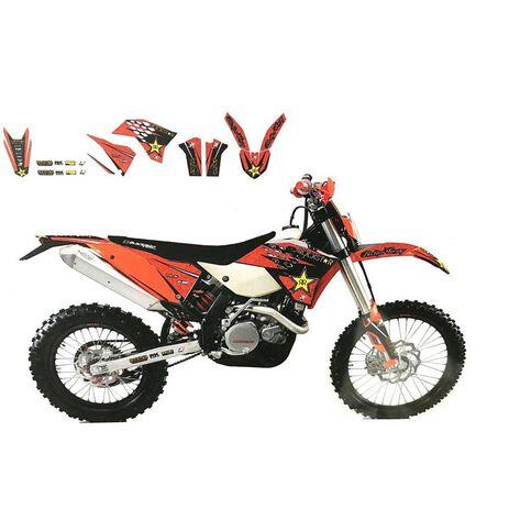 _Blackbird Aufkleber Kit KTM EXC/EXC-F 08-11 SX/SX-F 07-10 | 2527L | Greenland MX_