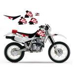 _Aufkleber Kit + Blackbird Sitzbezug Honda XR 250/400 96-04 | 8105 | Greenland MX_