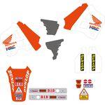 _Tecnosel AufkleberKit + Sitzbankbezug Replica Team Honda 1991 USA CR 125 91-92 250 90-91 | 81V01 | Greenland MX_