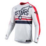_Alpinestars 5 Stars Racer Tech LE Jersey Rot/Grau | 3762619-9034 | Greenland MX_