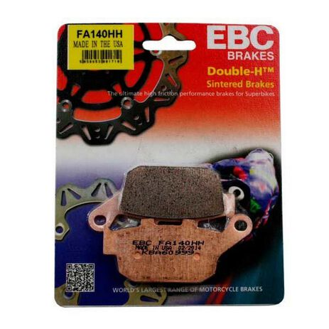 _EBC Bremsbeläge Gesintert Hinten (Richtig) Honda NX 650 Dominator 88-96 | FA140HH | Greenland MX_