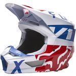 _Helm Fox V1 Skew Weiss/Rot/Blau   27999-574   Greenland MX_