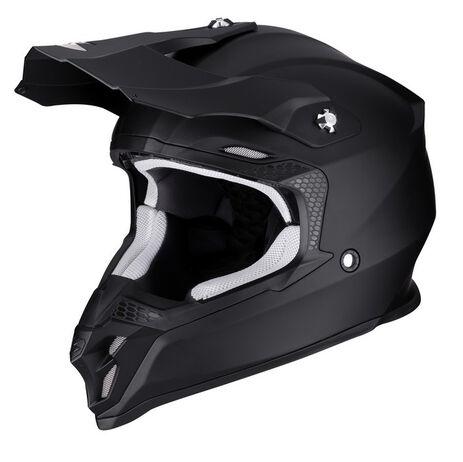 _Scorpion VX-16 Air Helm Schwarz Matt | 46-100-10 | Greenland MX_