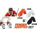 _4MX Kotflügel Adapter Set KTM EXC 08-13 SX 07-12 a 2014 Schwarz | KT-AGD-KTMB | Greenland MX_