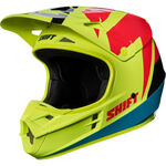 _Shift Weiß Label Tarmac Helm Gelb Fluo | 17232-130 | Greenland MX_
