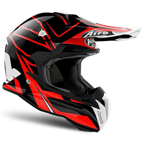 _Airoh Terminator Open Vision Shock Red Gloss Helm 2018 | TOVSH55 | Greenland MX_
