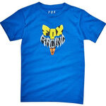 _Fox Fox Lyruh Kid T-Shirt Blau | 21287-188-KP | Greenland MX_