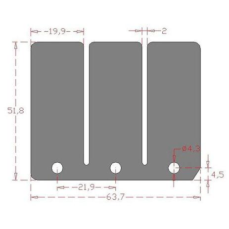 _Carbon-Membranen-Set KTM SX/EXC 125 81-98 | CRA-242 | Greenland MX_