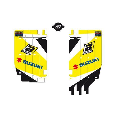 _Blackbird Kühlergitter Aufkleber Kit Suzuki RMZ 250 10-18 | A302E | Greenland MX_
